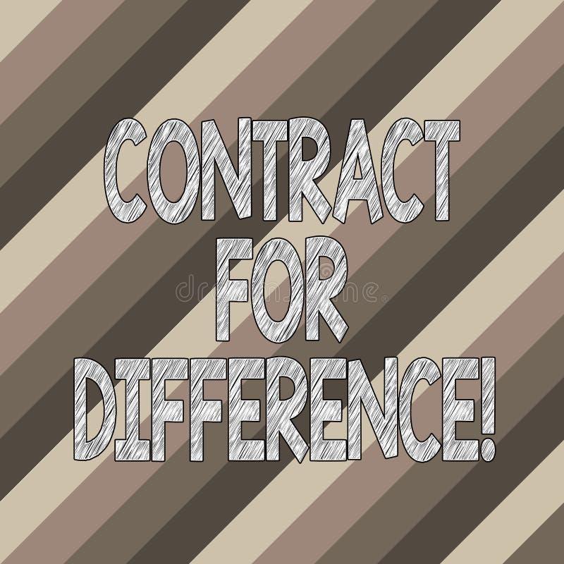 Begriffshandschriftvertretung Vertrag für Unterschied Geschäftsfoto-Textvertrag zwischen einem Investor und stock abbildung