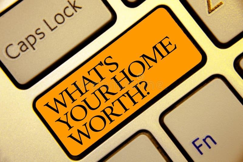Begriffshandschriftvertretung, welches s wert Frage Ihr Haupt ist Geschäftsfoto-Text Wert einer Grundbesitz-Selbstkostenpreis-Rat stockfotos