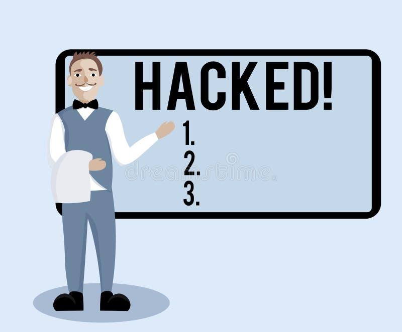 Begriffshandschriftvertretung zerhackt Geschäftsfototext Gewinnunberechtigter zugriff zu den Daten in System oder Computer Cyber stock abbildung