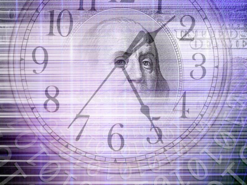 Begriffshintergrund des binär Code mit Zeit und Geld c vektor abbildung