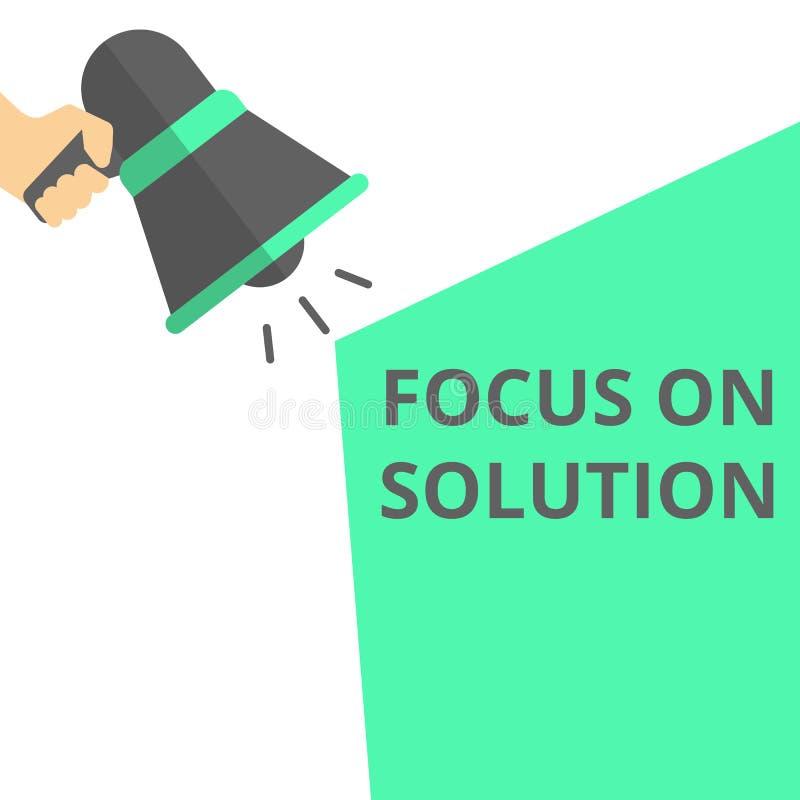Begriffsschreibensvertretung Fokus auf Lösung lizenzfreie abbildung