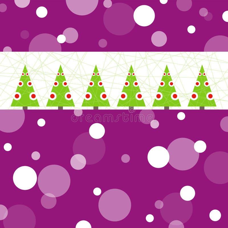 Begriffsweihnachtskarte stock abbildung