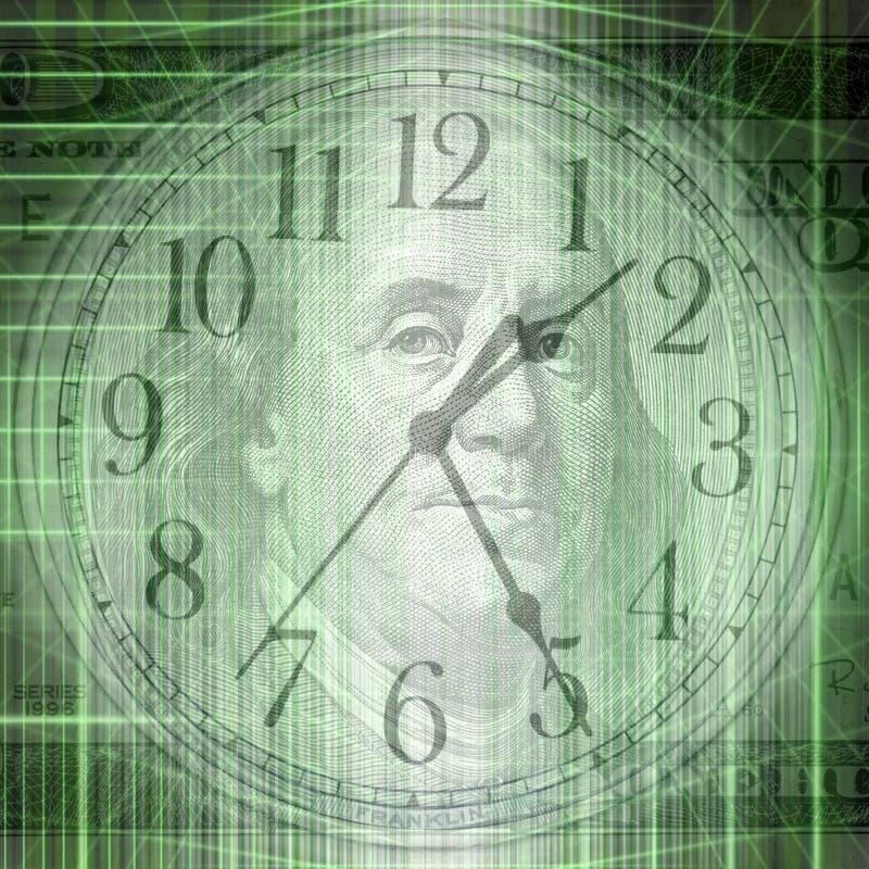 Begriffszeit- und Geldillustration mit abstraktem strukturellem lizenzfreies stockbild