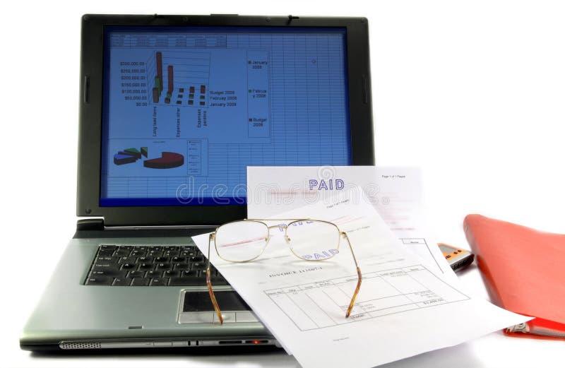 Begroting van een project en van de Cash flow leiding. royalty-vrije stock afbeelding