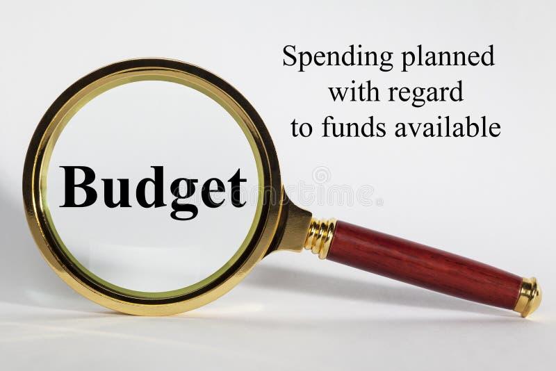 Begrotingsconcept en Definitie stock afbeeldingen