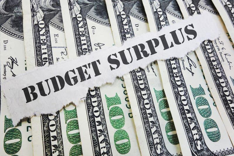 Begrotingsoverschotconcept royalty-vrije stock afbeeldingen