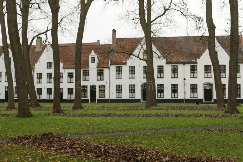 Beguinage a Bruges fotografie stock