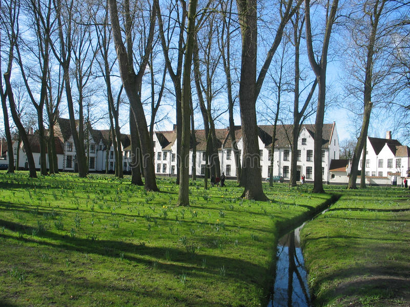 beguinage Bruges fotografia stock