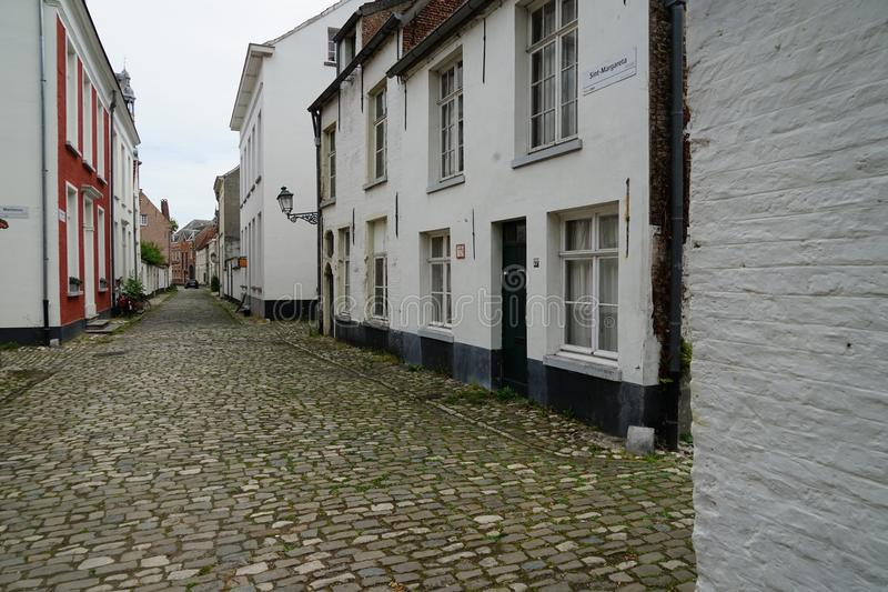 Beguinage in Lier royalty-vrije stock afbeeldingen