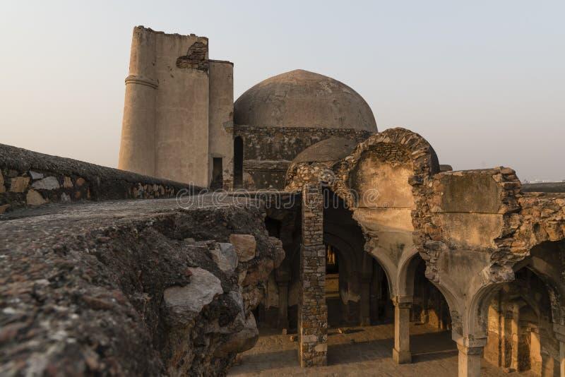 Begumpurmoskee in Jahanpanah royalty-vrije stock afbeeldingen