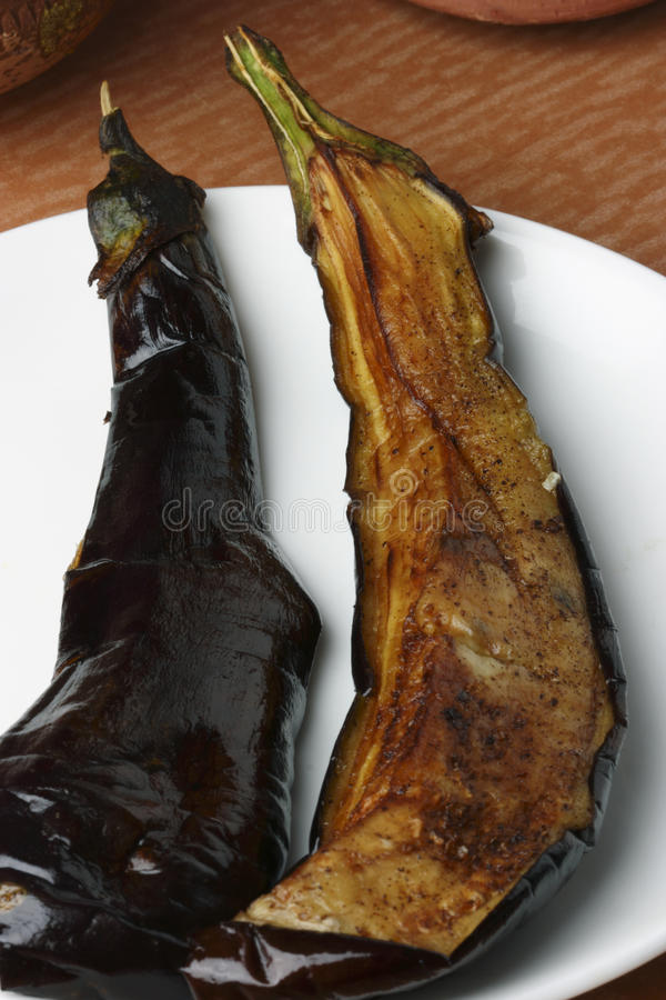 Begun Bhaja - Bengali Eggplant Fry. Top view of fried Eggplant. Begun Bhaja is a side dish served with rice and fish curry or just as a snack. Begun is the royalty free stock images