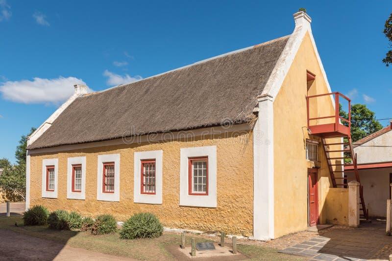 Begynnande skola i Genadendal som byggs 1830 arkivfoton