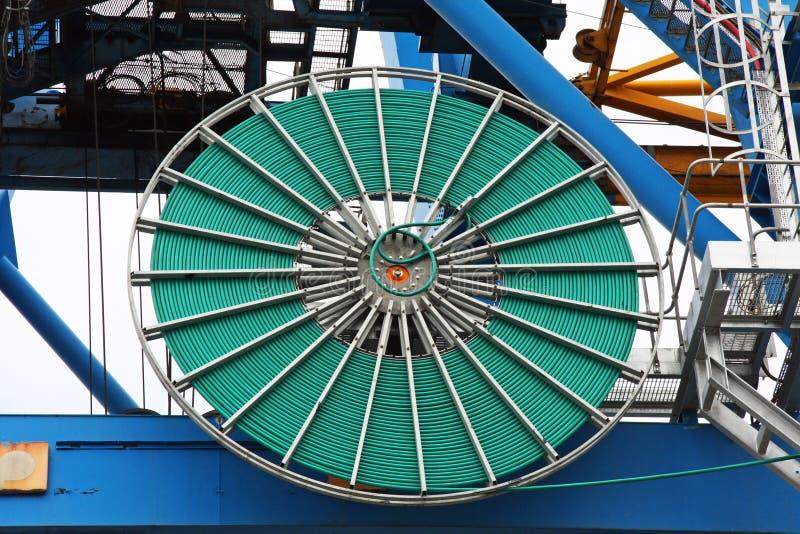 Behälter Crane Reeling Drum stockbilder
