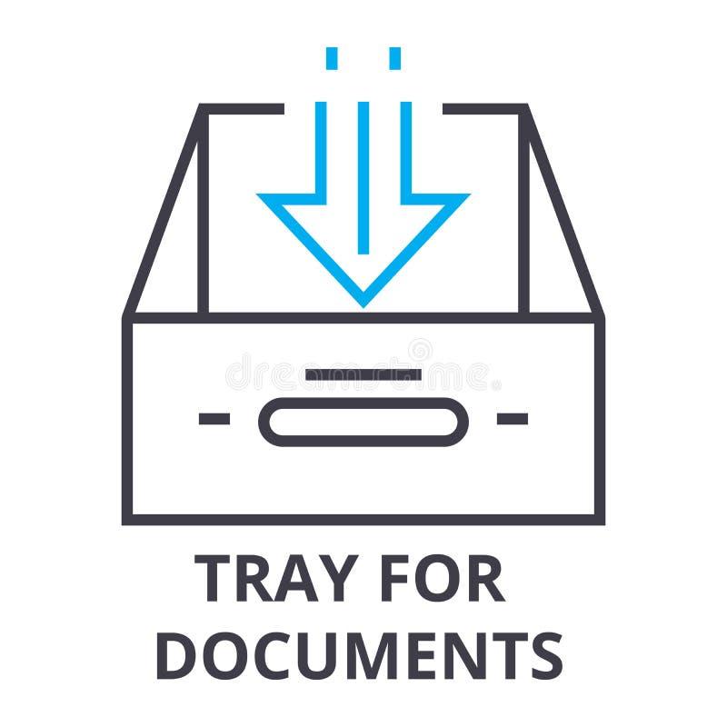 Behälter für Dokumente verdünnen Linie Ikone, Zeichen, Symbol, illustation, lineares Konzept, Vektor vektor abbildung