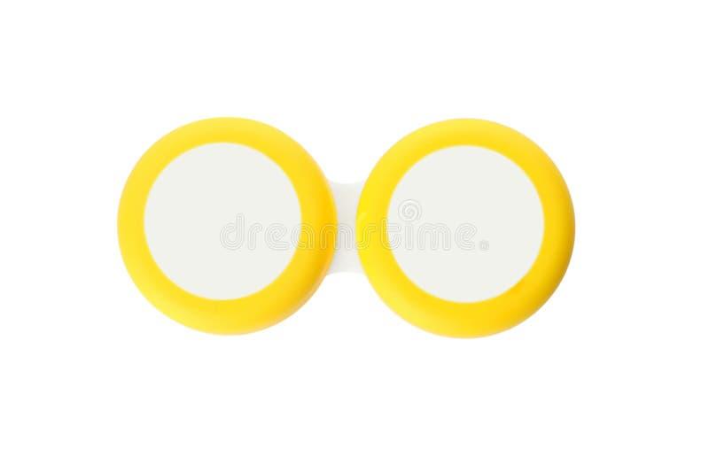 Behälter mit Kontakt lense lizenzfreie stockfotografie
