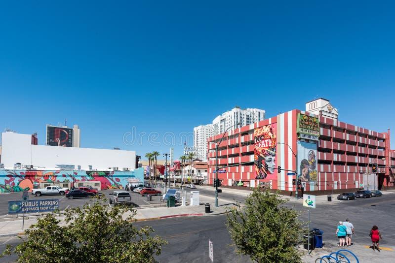 Behälter-Park in im Stadtzentrum gelegenem Las Vegas lizenzfreie stockfotografie