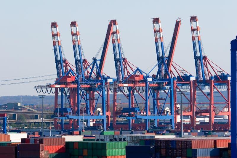 Behälter-Terminal Hamburg lizenzfreie stockbilder