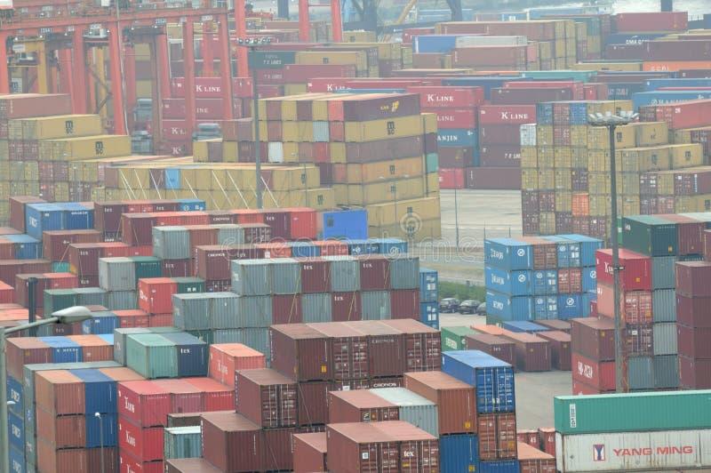 Behälter-Terminal Hong- KongKwai Chung lizenzfreies stockbild