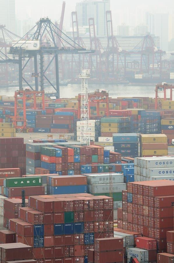 Behälter-Terminal Hong- KongKwai Chung lizenzfreie stockbilder