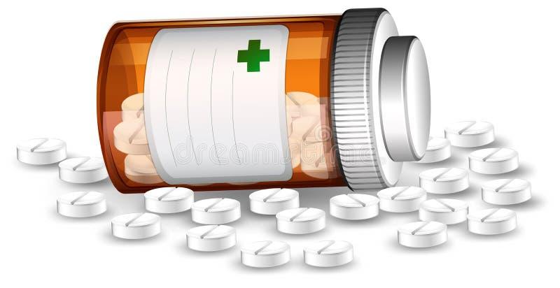 Behälter- und medicenepillen stock abbildung