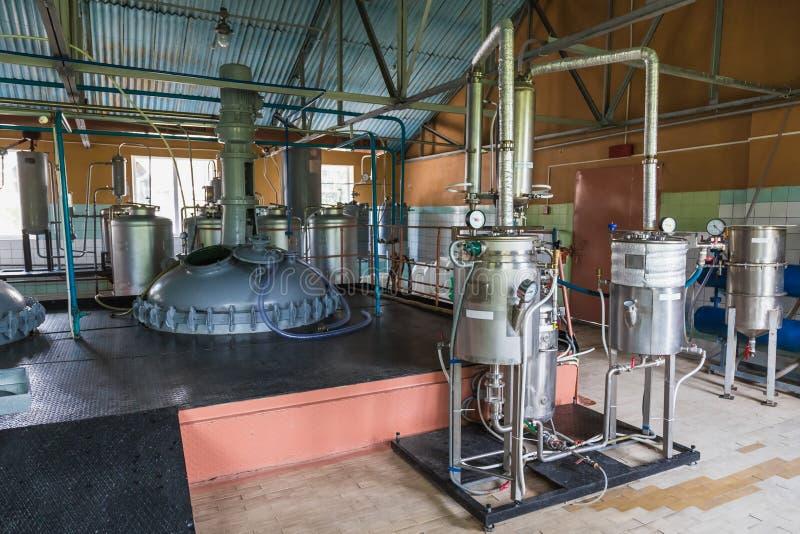 Behälterausrüstung stockbild