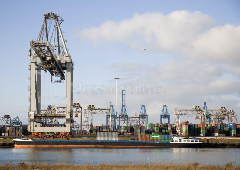 Behälterhafen stockfoto