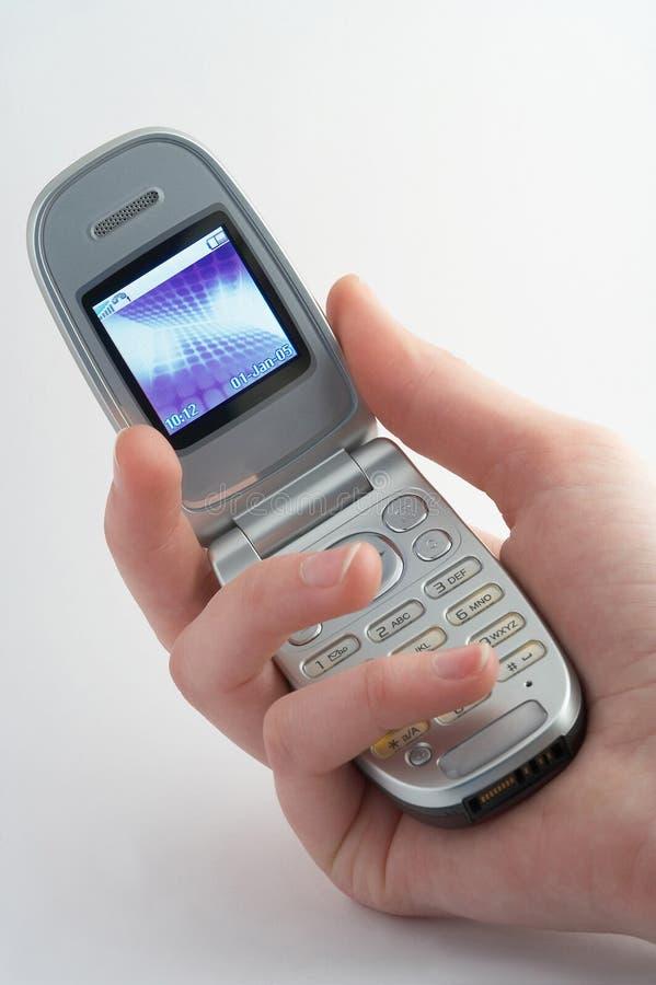 behändig mobil royaltyfria bilder