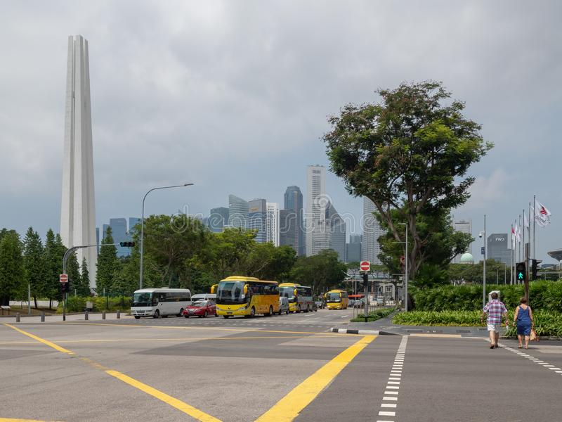 Beh?Basah aveny, Singapore arkivfoton