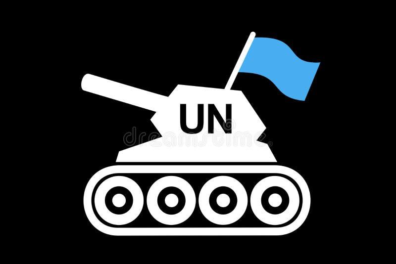 Behållare av Förenta NationernaPeacekeepingstyrkor stock illustrationer
