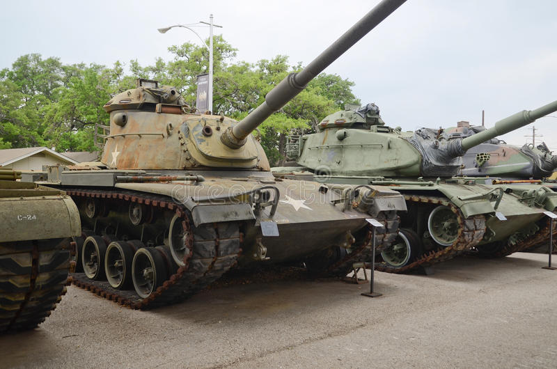 Behållare för armé M60 Patton arkivbilder