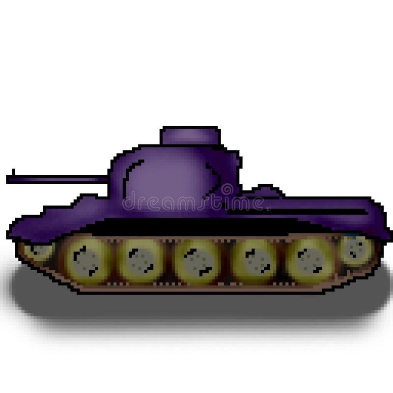 Behållare för bit för PIXEL 8 utdragen militär mångfärgad vektor illustrationer
