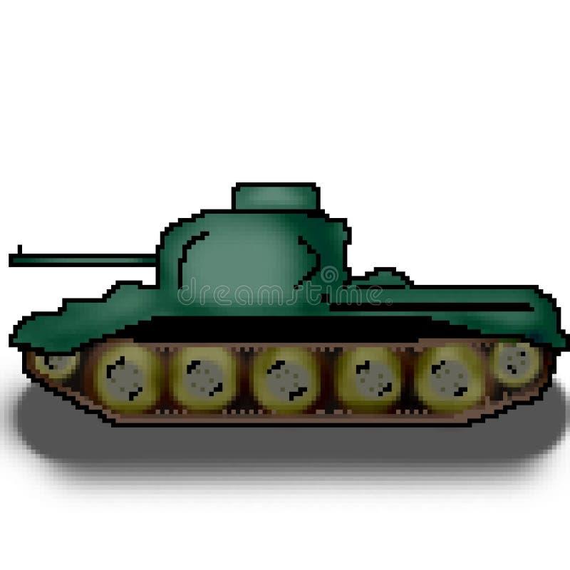 Behållare för bit för PIXEL 8 utdragen militär mångfärgad stock illustrationer