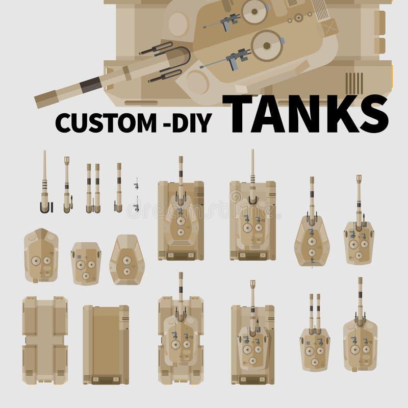 Behållare för egen DIY stock illustrationer