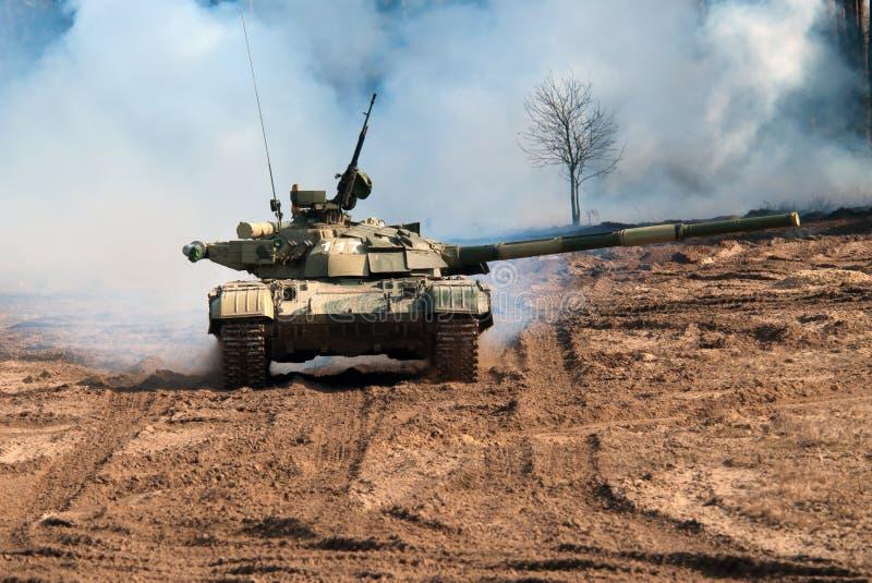Behållare för huvudsaklig strid T-64 Bulat royaltyfria bilder
