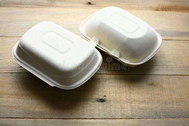 Behållare för Takeaway mat arkivbilder