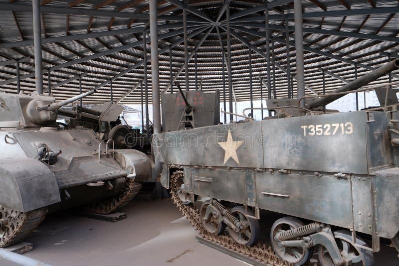 Behållare i det militära museet av revolutionen för ` s för kinesiskt folk i Peking royaltyfria foton