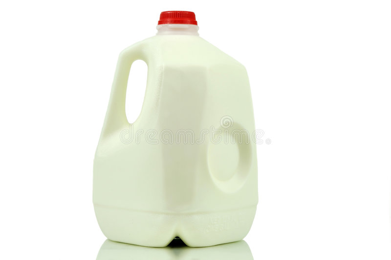 behållaregal.et mjölkar royaltyfri bild
