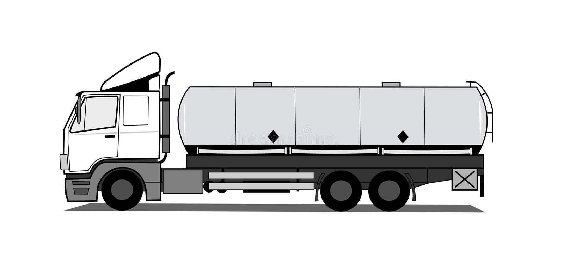 behållarelastbil stock illustrationer