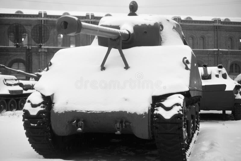 Behållaren för M4 Sherman royaltyfria bilder