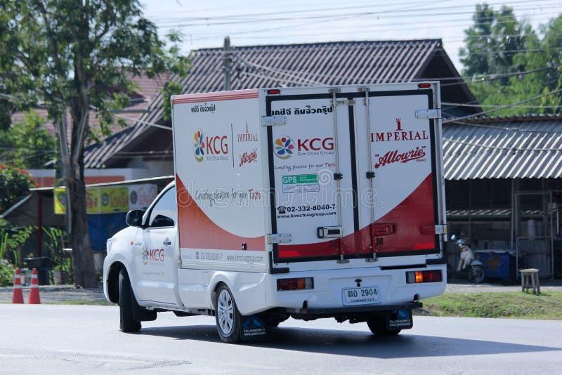 Behållaren väljer upp lastbilen av KCG Kim Chua Group royaltyfria foton