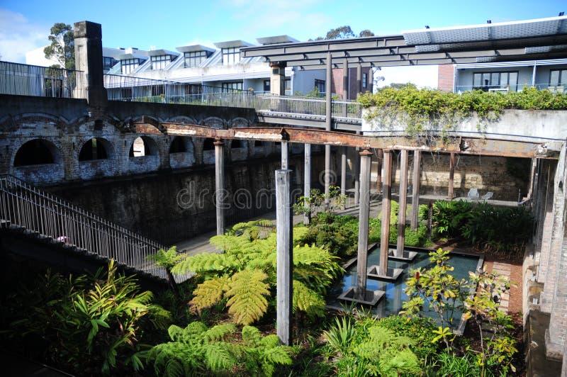 Behållarträdgårdar Paddington royaltyfri foto