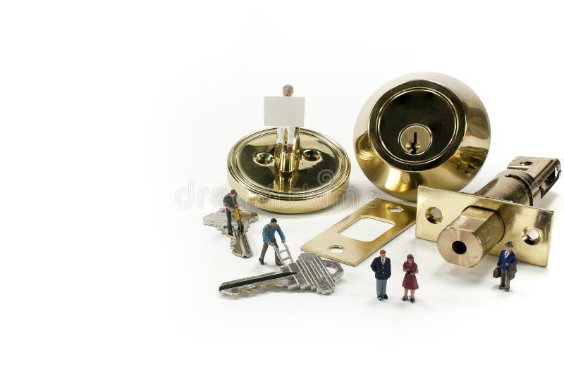 Behöv en låssmed? arkivbilder