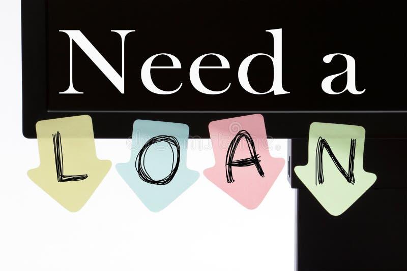 Behöv ett lån arkivbild