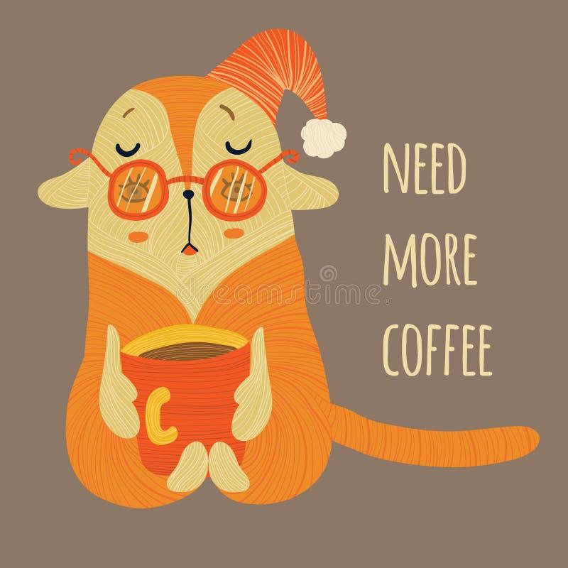 Behöv mer kaffe i färg arkivbild