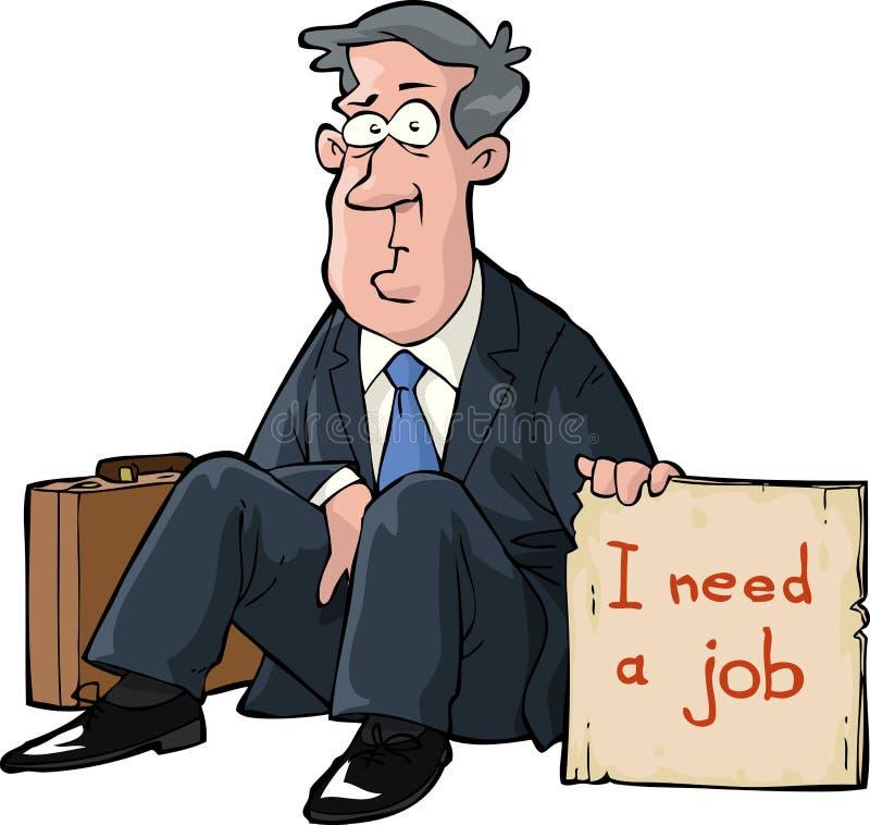 Behöver ett jobb stock illustrationer