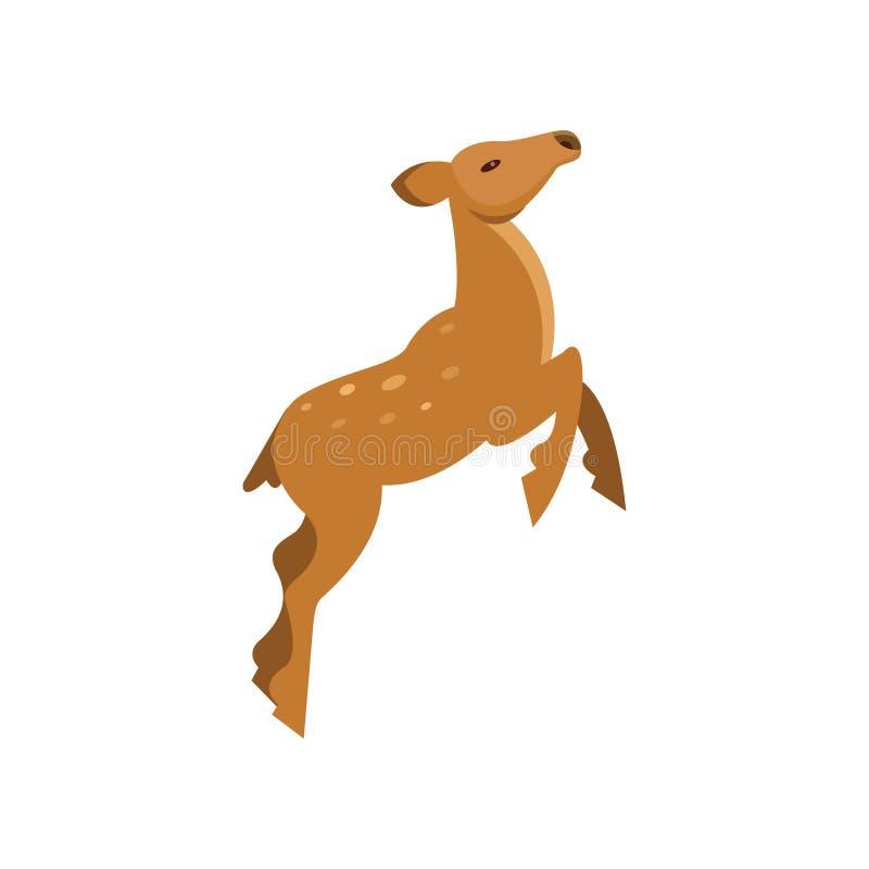 Behagfull prickig i träda rådjurbanhoppning, för tecknad filmvektor för löst djur illustration stock illustrationer