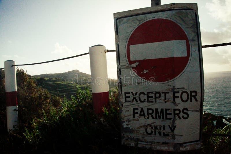 Behalve landbouwers slechts teken royalty-vrije stock afbeeldingen