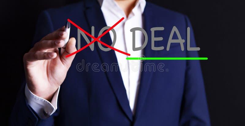 Behandel geen overeenkomst stock afbeeldingen