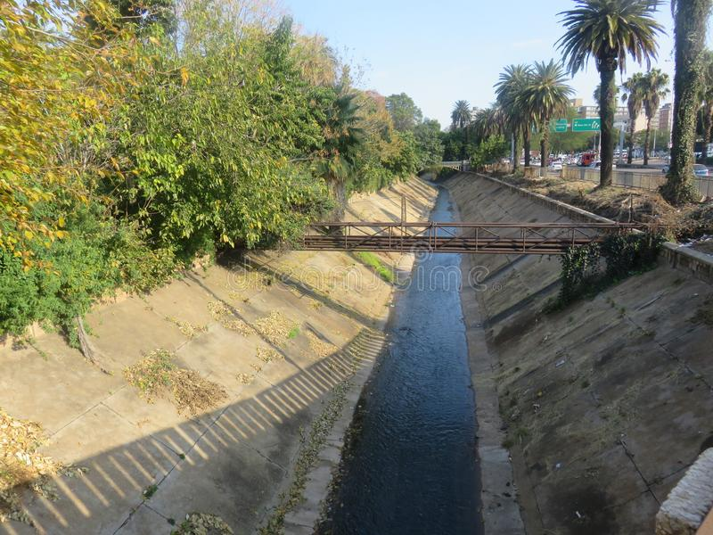 behandeld afvalwater royalty-vrije stock foto