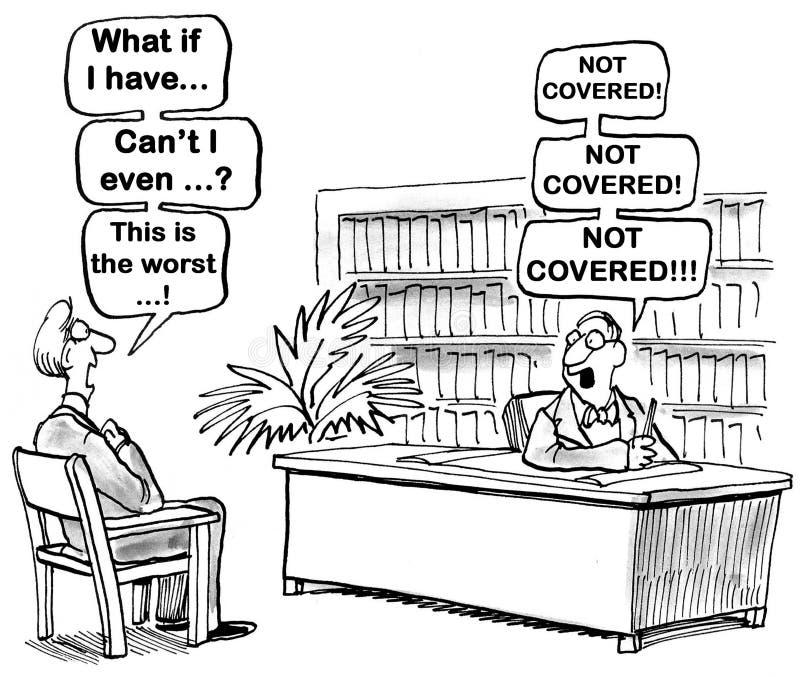 Behandeld niet stock illustratie